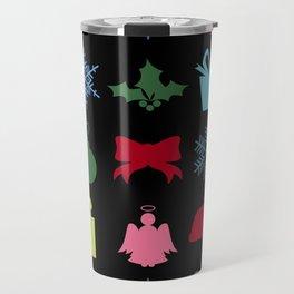 Christmas symbols Travel Mug