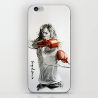 boxing iPhone & iPod Skins featuring Boxing by Raquel García Maciá