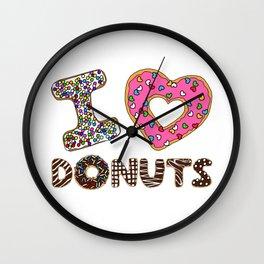 I LOVE DONUTS Wall Clock