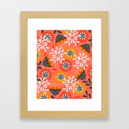 Sweet floral spring pattern Framed Art Print