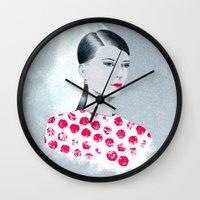 sandra dieckmann Wall Clocks featuring Sandra by youdesignme