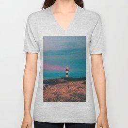 Lighthouse of the Isla Pancha Unisex V-Neck