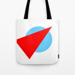 Compass: Blue and Red Tote Bag