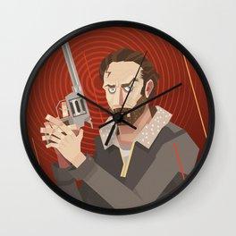 rick-the walking dead Wall Clock