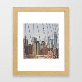 New York from Brooklyn Bridge Framed Art Print