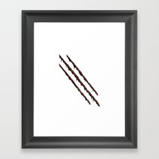 Sliced by You know who... Framed Art Print
