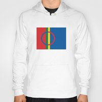 scandinavian Hoodies featuring Sami people ethnic scandinavian Flag by tony tudor