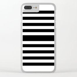 Simply Black White Clear iPhone Case