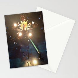 Glowing Flower Chandelier   Stationery Cards