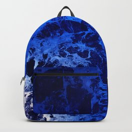 Blue Marble Dream Abstract Backpack