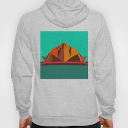 Lotus Temple, Modern Architecture Abstracts Hoody
