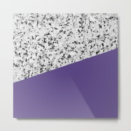 Granite with Ultra Violet Color Metal Print