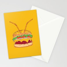 Burger for two Stationery Cards