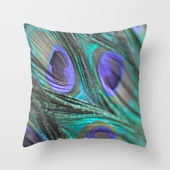 Peacock Fashion Throw Pillow