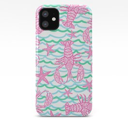 Preppy Lobsters iPhone Case