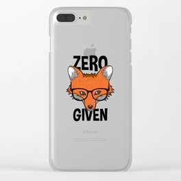 Zero Fox Given funny pun gift nerds Clear iPhone Case