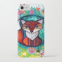 tatoo iPhone & iPod Cases featuring tatoo fox by oxana zaika