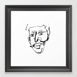 FACES / 004 Framed Art Print