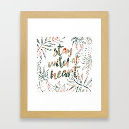 STAY WILD-AT-HEART Birds and Words Framed Art Print