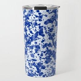 blue splatter Travel Mug