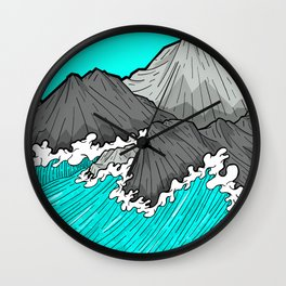 The Rocks And The Sea Wall Clock