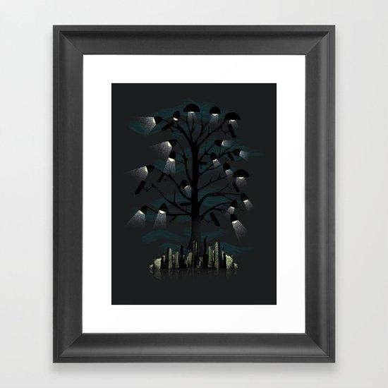 Goodnight City Framed Art Print