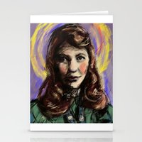 sylvia plath Stationery Cards featuring St. Sylvia Plath by Buttons McTavish