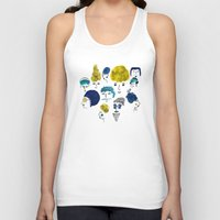 faces Tank Tops featuring Faces by Sahily Tallet Yip