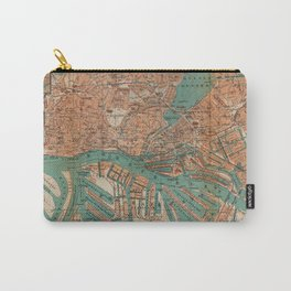 Vintage Map of Hamburg Germany (1910) 2 Carry-All Pouch