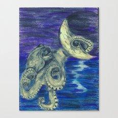 Noctopus Canvas Print