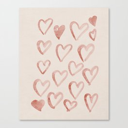 Love you naive hearts_bloomart Canvas Print