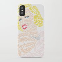 verse iPhone & iPod Cases featuring Marilyn Verse by Kaitlyn Brown