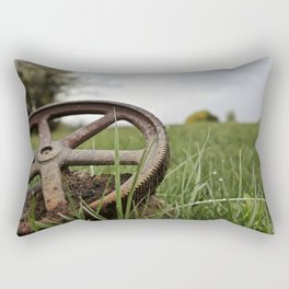 Rusty Wheel Rectangular Pillow