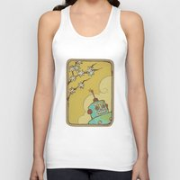 robot Tank Tops featuring Robot by Willow Dawson