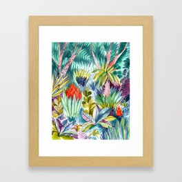 Jungle with pink trees Framed Art Print