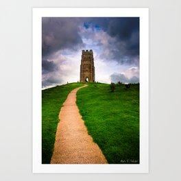 Path To The Top Of Magical Glastonbury Tor Art Print