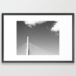Zakim Bridge Boston Framed Art Print
