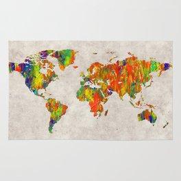World Map 40 Rug