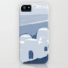 Labyrinth on the Shore, Sketch, Cyanotype iPhone Case