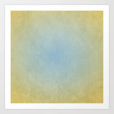 Blue & Gold Art Print