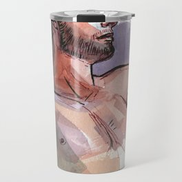 MARK, Semi-Nude Male by Frank-Joseph Travel Mug