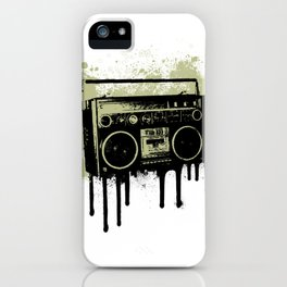 Portable Stereo Splatter iPhone Case