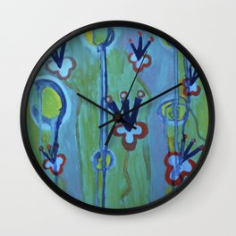 Blue Jolt Wall Clock