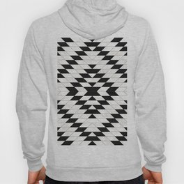 Urban Tribal Pattern No.15 - Aztec - White Concrete Hoody