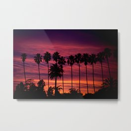 Sunset over Hollywood Metal Print
