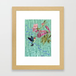 The Bittersweet Nectar of the Here and Now Framed Art Print