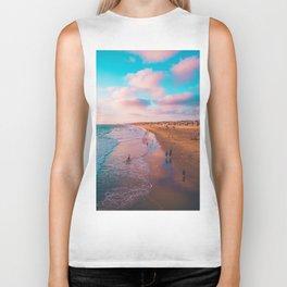 Pink Beach Shore (Color) Biker Tank