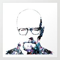 heisenberg Art Prints featuring Heisenberg by NKlein Design
