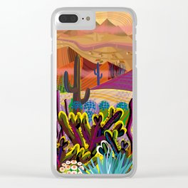 High on a Mountain Top Clear iPhone Case