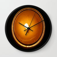 fifth element Wall Clocks featuring Element by cottoncandirazor